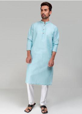 Project Linen Casual Kurta for Men - Aqua Green PLSK-003