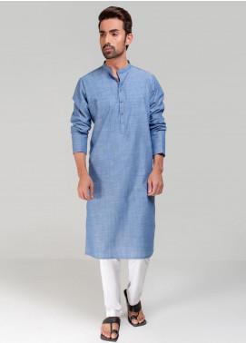 Project Linen Casual Kurta for Men - Blue PLSK-005