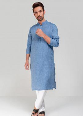 Project Linen Casual Kurta for Men - Blue PLSK-009