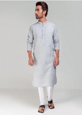 Project Linen Casual Kurta for Men - Grey/White PLSK-011