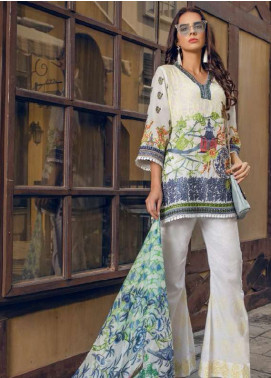 Maryum N Maria Embroidered Swiss Voile Unstitched 3 Piece Suit LMM18S 01 - Spring / Summer Collection