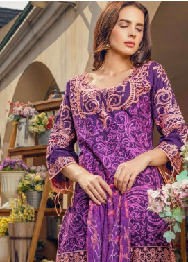 Maryum N Maria Embroidered Swiss Voile Unstitched 3 Piece Suit LMM18S 06 - Spring / Summer Collection