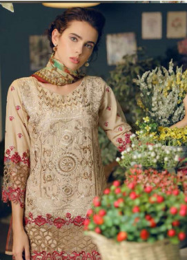 Maryum N Maria Embroidered Swiss Voile Unstitched 3 Piece Suit LMM18S 09 - Spring / Summer Collection