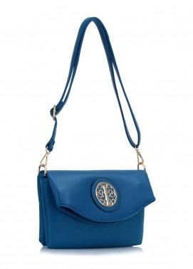 Leesun London Faux Leather Cross Body Bags for Women Blue