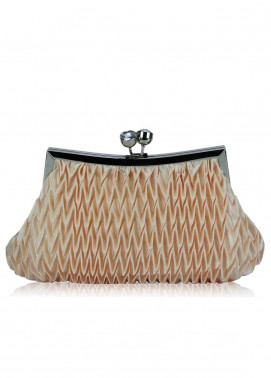 Fashion Only Satin Clutch Bags for Women Nude