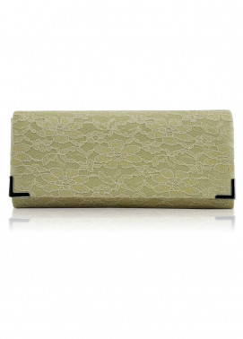 Fashion Only Satin Clutch Bags for Women Beige