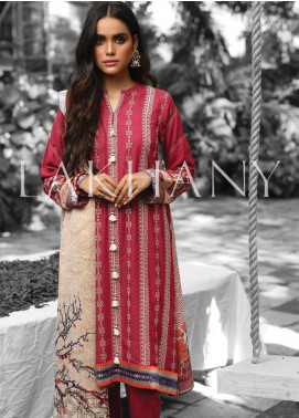 Lakhany Embroidered Karandi Unstitched 3 Piece Suit LSM19A 6601-A - Formal Collection