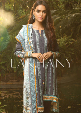 Lakhany Embroidered Karandi Unstitched 3 Piece Suit LSM19A 6601-B - Formal Collection