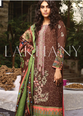 Lakhany Embroidered Karandi Unstitched 3 Piece Suit LSM19A 6602-B - Formal Collection