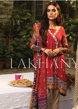 Lakhany Embroidered Karandi Unstitched 3 Piece Suit LSM19A 6603-A - Formal Collection