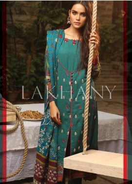 Lakhany Embroidered Karandi Unstitched 3 Piece Suit LSM19A 6603-B - Formal Collection