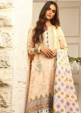 Lakhany Embroidered Karandi Unstitched 3 Piece Suit LSM19A 6605-A - Formal Collection
