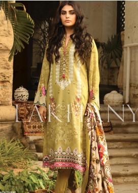 Lakhany Embroidered Karandi Unstitched 3 Piece Suit LSM19A 6605-B - Formal Collection