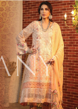 Lakhany Embroidered Chiffon Unstitched 3 Piece Suit LSM19C 8001 - Luxury Collection