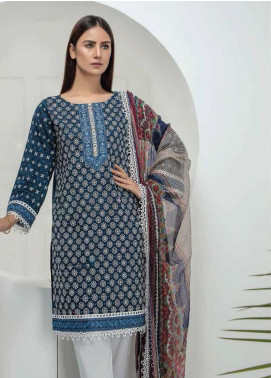 Lakhany Embroidered Chikankari Unstitched 3 Piece Suit LSM19CK 7006 - Mid Summer Collection