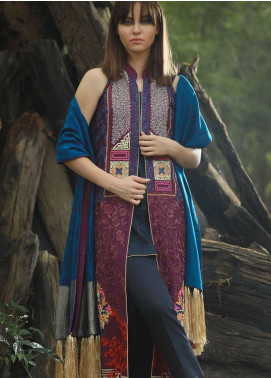 Lakhany Embroidered Khaddar Unstitched 3 Piece Suit LSM18CO 1119 - Winter Shawls Collection