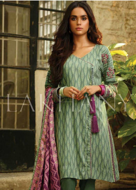 Lakhany Embroidered Pashmina Unstitched 3 Piece Suit LSM19DE 8801 B - Formal Collection