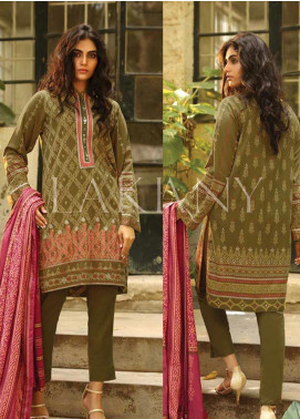Lakhany Embroidered Pashmina Unstitched 3 Piece Suit LSM19DE 8802 B - Formal Collection