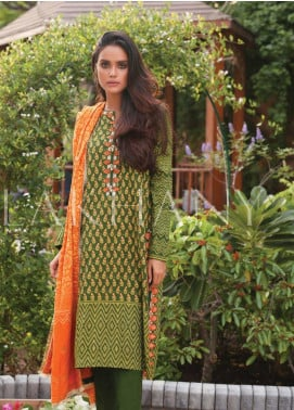 Lakhany Embroidered Pashmina Unstitched 3 Piece Suit LSM19DE 8803 B - Formal Collection