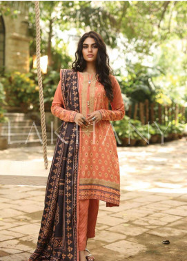Lakhany Embroidered Pashmina Unstitched 3 Piece Suit LSM19DE 8804 A - Formal Collection