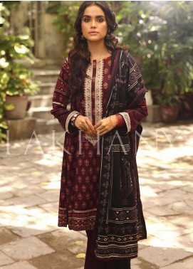 Lakhany Embroidered Pashmina Unstitched 3 Piece Suit LSM19DE 8804 B - Formal Collection