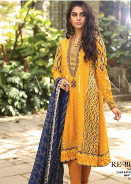 Lakhany Embroidered Pashmina Unstitched 3 Piece Suit LSM19DE 8805 A - Formal Collection