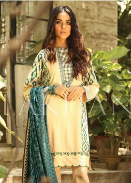 Lakhany Embroidered Pashmina Unstitched 3 Piece Suit LSM19DE 8805 B - Formal Collection