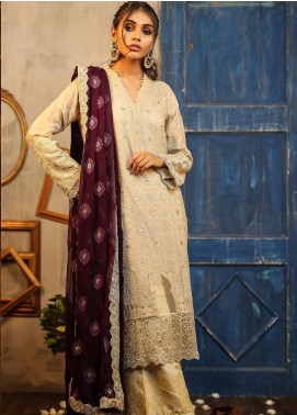 Lakhany Embroidered Cotton Net Unstitched 3 Piece Suit LSM19D 9904 - Summer Collection