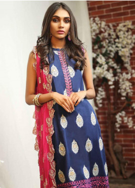 Lakhany Embroidered Lawn Unstitched 3 Piece Suit LSM19TF 9003 - Festive Collection