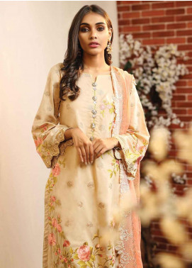 Lakhany Embroidered Lawn Unstitched 3 Piece Suit LSM19TF 9005 - Festive Collection