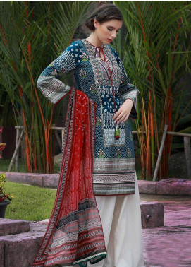 Lakhany Embroidered Cotton Cotel Unstitched 3 Piece Suit LSM18KN 510 - Luxury Collection
