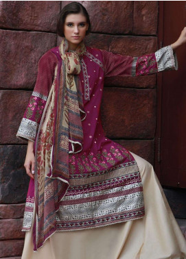 Lakhany Embroidered Cotton Cotel Unstitched 3 Piece Suit LSM18KN 514 - Luxury Collection