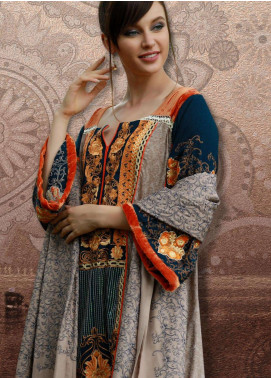 Lakhany Embroidered Pashmina Unstitched 3 Piece Suit LSM18KK 333 - Exclusive Winter Range