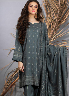 Cashmi Vool by Lakhany Printed Cashmere Wool Unstitched 3 Piece Suit LSM20CV 1003 A - Winter Collection