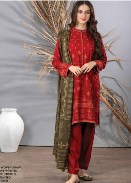 Cashmi Vool by Lakhany Printed Cashmere Wool Unstitched 3 Piece Suit LSM20CV 1007 B - Winter Collection