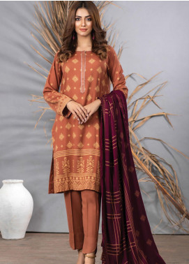 Cashmi Vool by Lakhany Printed Cashmere Wool Unstitched 3 Piece Suit LSM20CV 1008 A - Winter Collection