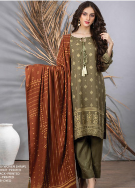 Cashmi Vool by Lakhany Printed Cashmere Wool Unstitched 3 Piece Suit LSM20CV 1008 B - Winter Collection