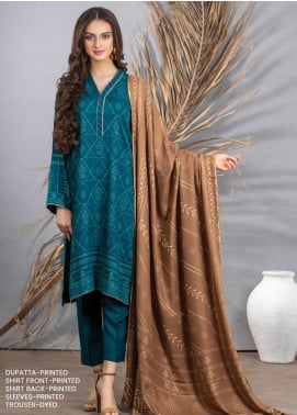 Cashmi Vool by Lakhany Printed Cashmere Wool Unstitched 3 Piece Suit LSM20CV 1010 B - Winter Collection