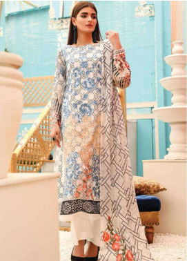 Lakhany Embroidered Chiffon Unstitched 3 Piece Suit LSM19F 5010 ZEPHYR DREAM - Festive Collection