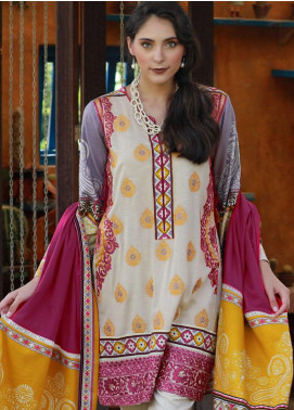 Lakhany Embroidered Viscose Unstitched 3 Piece Suit LSM18MP 9904A - Formal Collection