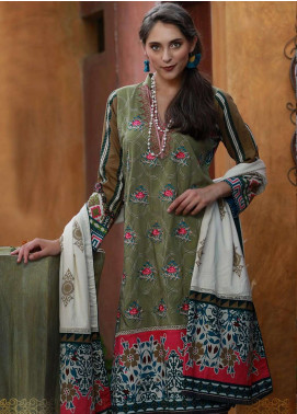 Lakhany Embroidered Viscose Unstitched 3 Piece Suit LSM18MP 9905B - Formal Collection