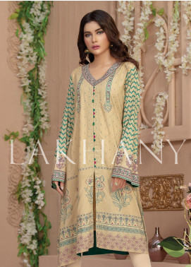 Lakhany Embroidered Cotton Unstitched Kurties LSM19SK 7003-B - Formal Collection