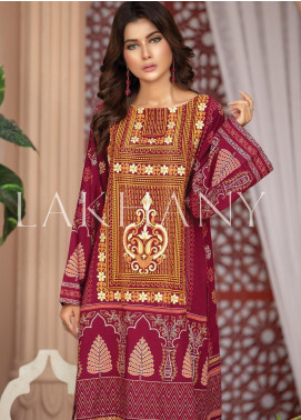 Lakhany Embroidered Cotton Unstitched Kurties LSM19SK 7006-A - Formal Collection