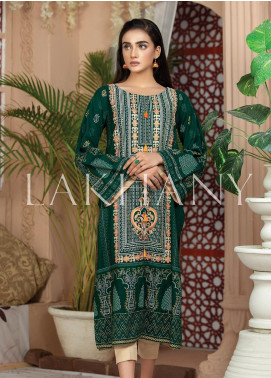Lakhany Embroidered Cotton Unstitched Kurties LSM19SK 7006-B - Formal Collection
