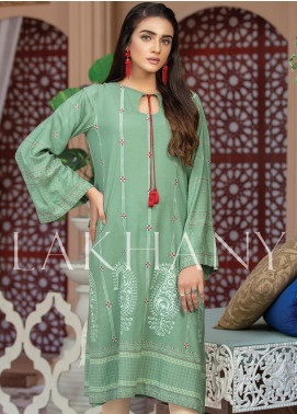 Lakhany Embroidered Cotton Unstitched Kurties LSM19SK 7008-A - Formal Collection