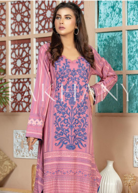 Lakhany Embroidered Cotton Unstitched Kurties LSM19SK 7009-B - Formal Collection