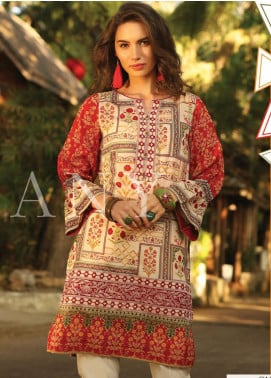 Lakhany Embroidered Lawn Unstitched Kurties LSM20SS 2072 - Summer Collection