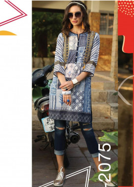Lakhany Embroidered Lawn Unstitched Kurties LSM20SS 2075 - Summer Collection