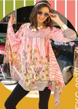 Lakhany Embroidered Lawn Unstitched Kurties LSM20SS 2078 - Summer Collection