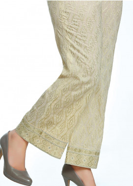 Lakhany Embroidered Cotton Net Unstitched Trousers LSM20SS 2090 - Summer Collection